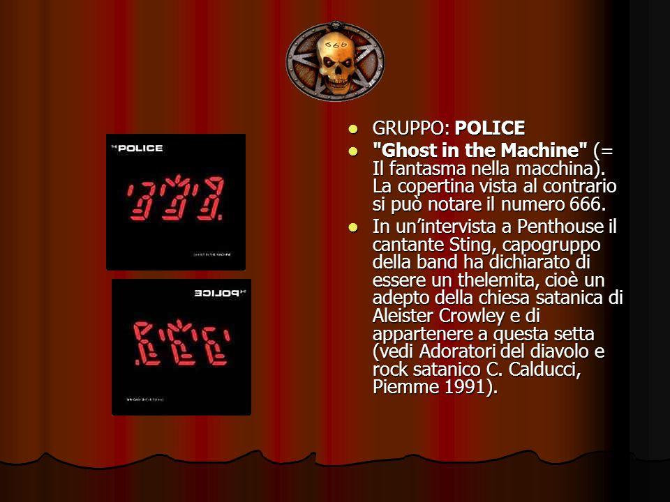 GRUPPO: POLICE GRUPPO: POLICE