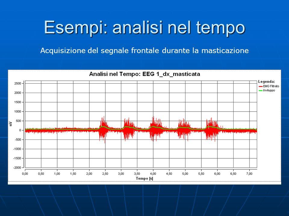 Analisi in frequenza Analizzare le armoniche che compongono il segnale è di fondamentale importanza in quanto permette di rilevare la fatica muscolare.