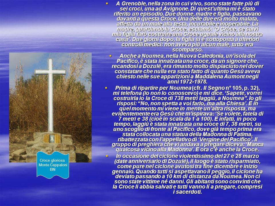 A Grenoble, nella zona in cui vivo, sono state fatte più di sei croci, una ad Avignone. Di questultima mi è stato riferito un episodio. Due donne, mad