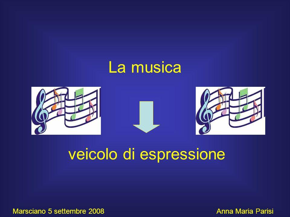 La musica veicolo di espressione Marsciano 5 settembre 2008 Anna Maria Parisi