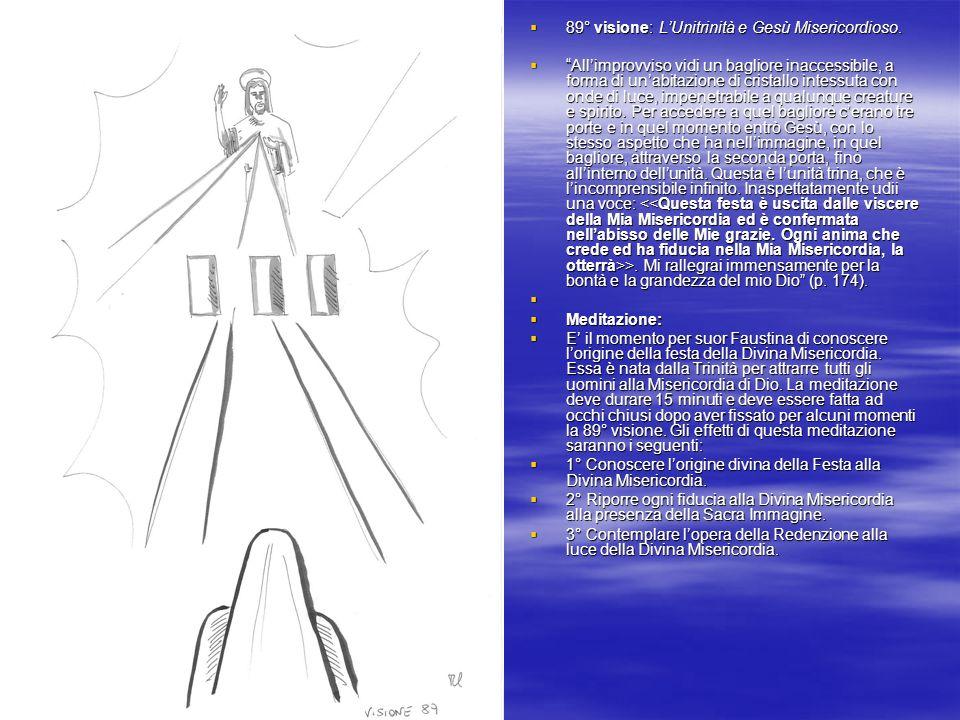 89° visione: LUnitrinità e Gesù Misericordioso.89° visione: LUnitrinità e Gesù Misericordioso.