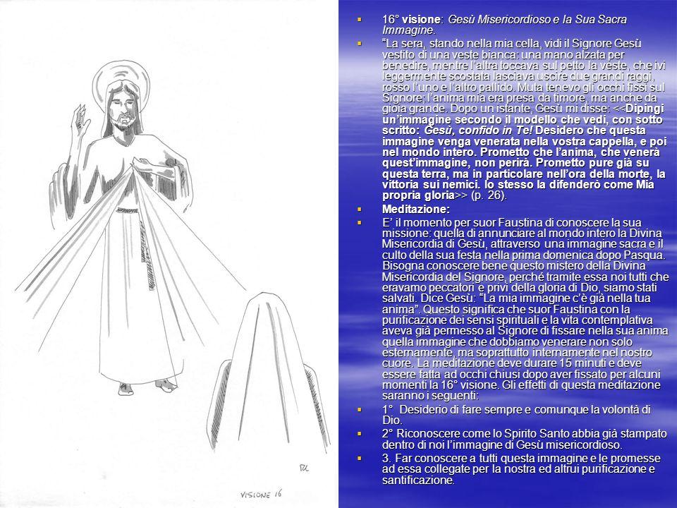 16° visione: Gesù Misericordioso e la Sua Sacra Immagine.