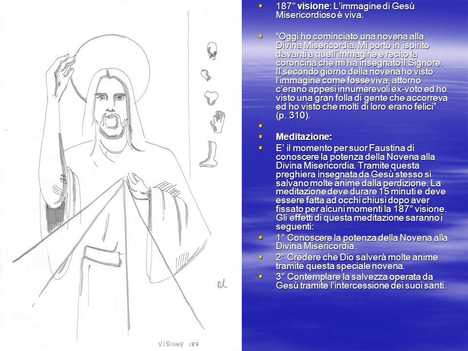 187° visione: Limmagine di Gesù Misericordioso è viva.