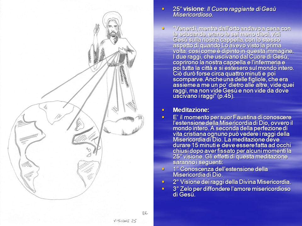 25° visione: Il Cuore raggiante di Gesù Misericordioso.
