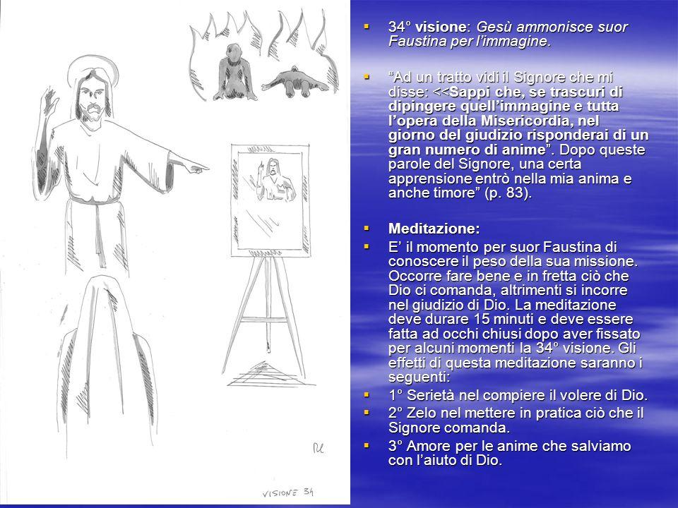 34° visione: Gesù ammonisce suor Faustina per limmagine.