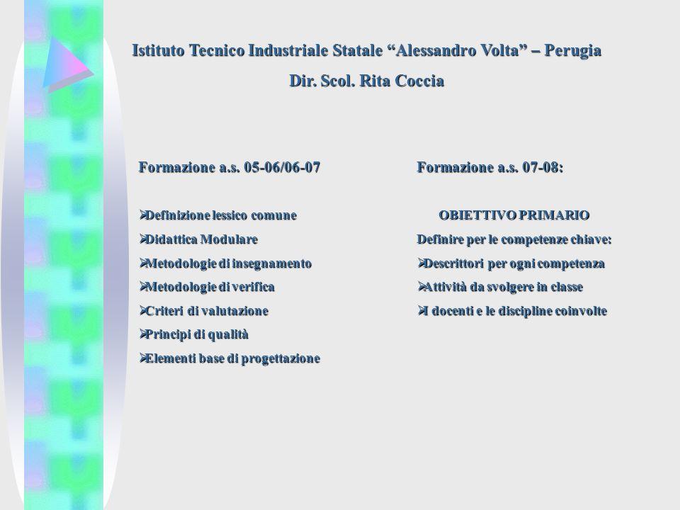 Istituto Tecnico Industriale Statale Alessandro Volta – Perugia Dir.