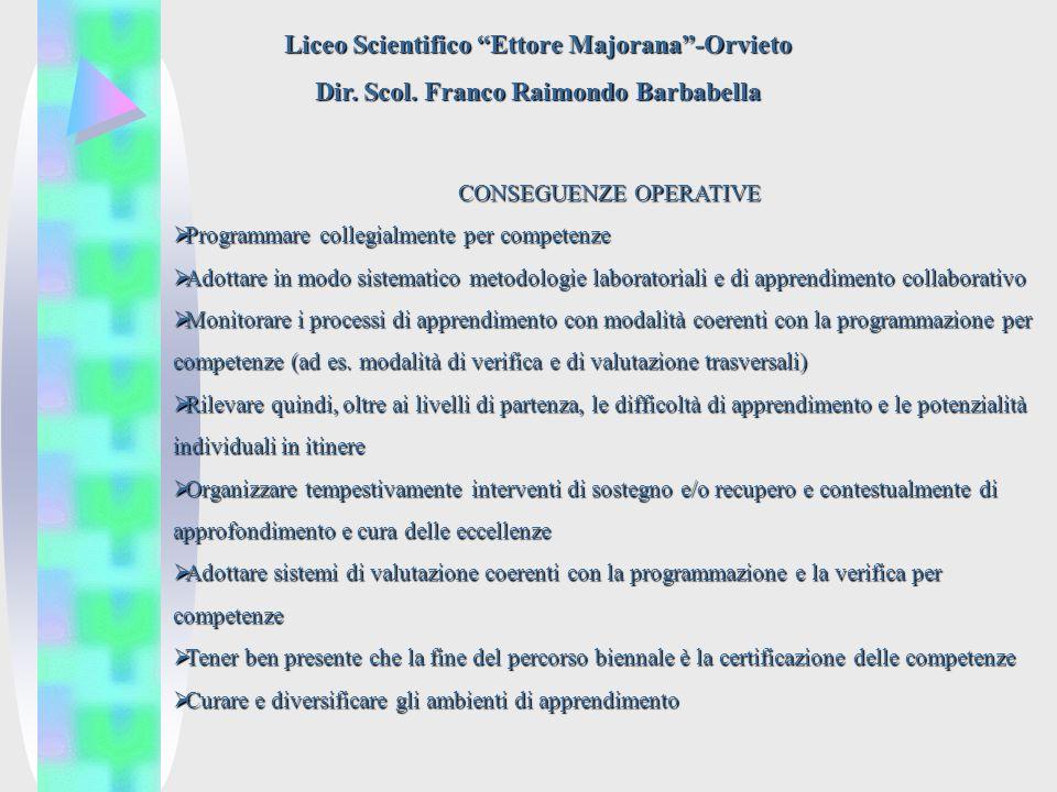 Liceo Scientifico Ettore Majorana-Orvieto Dir. Scol.