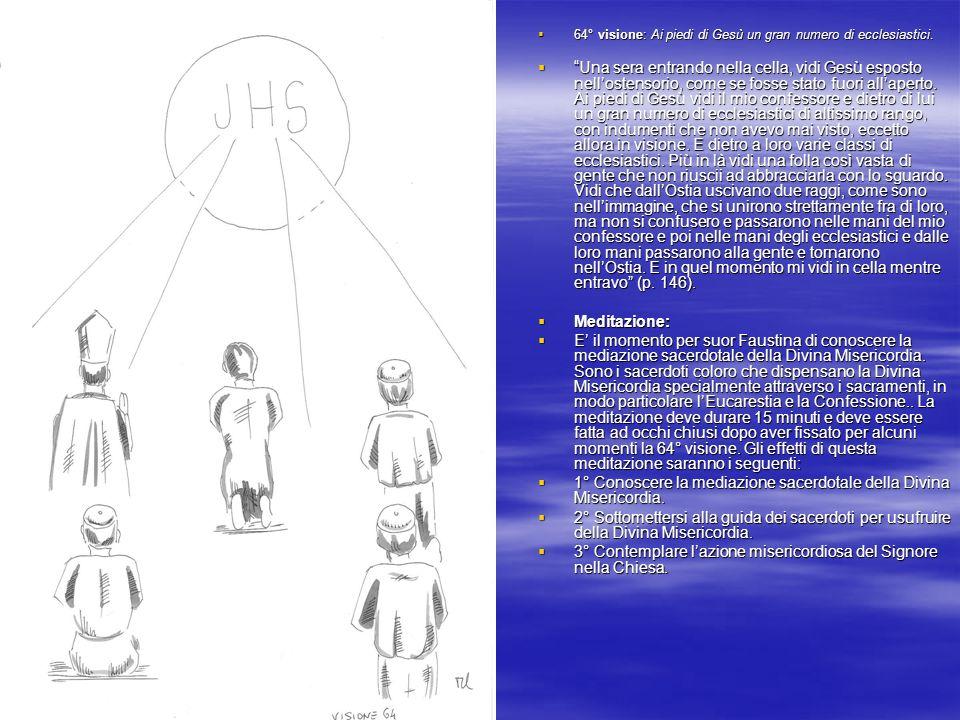 66° visione: Gesù bambino elevato dopo la consacrazione eucaristica.