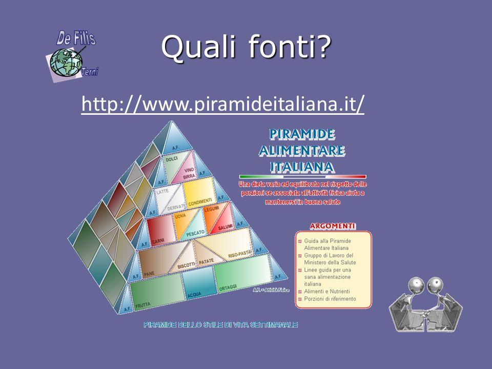 Quali fonti? http://www.piramideitaliana.it/