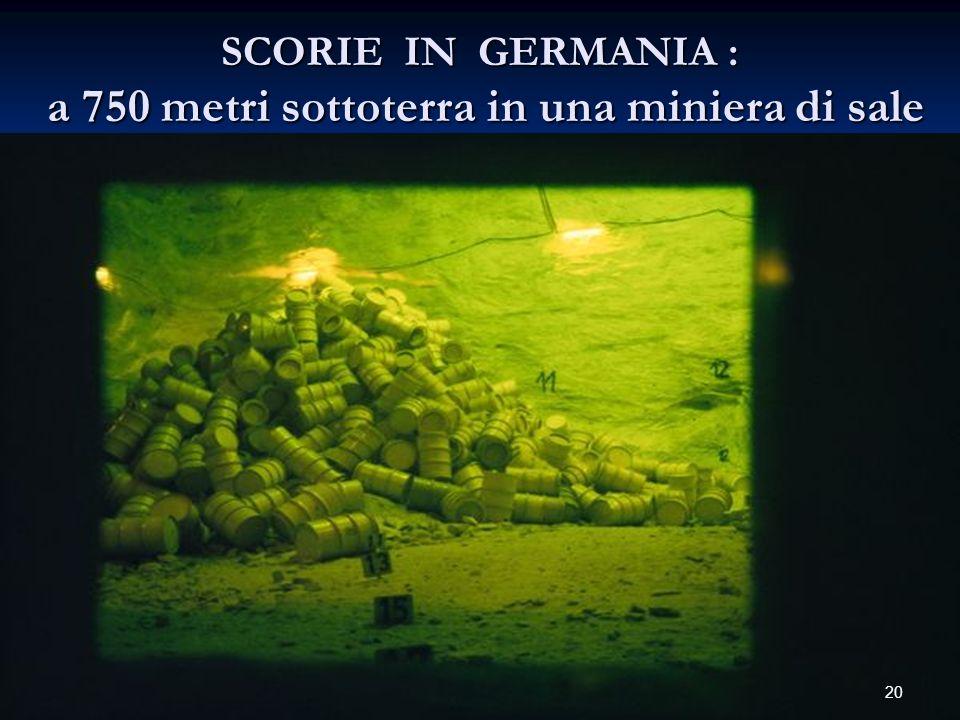 SCORIE IN GERMANIA : a 750 metri sottoterra in una miniera di sale 20