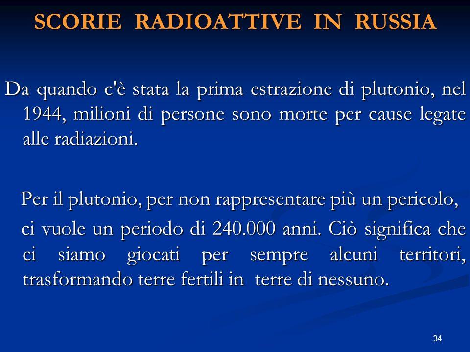 Da quando c'è stata la prima estrazione di plutonio, nel 1944, milioni di persone sono morte per cause legate alle radiazioni. Per il plutonio, per no