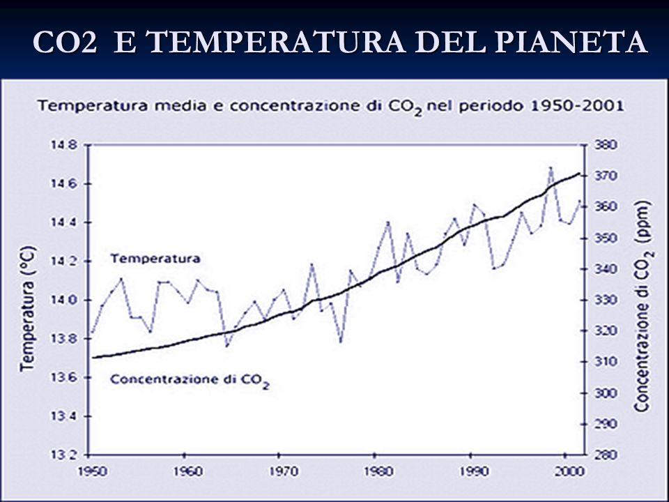 CO2 E TEMPERATURA DEL PIANETA CO2 E TEMPERATURA DEL PIANETA