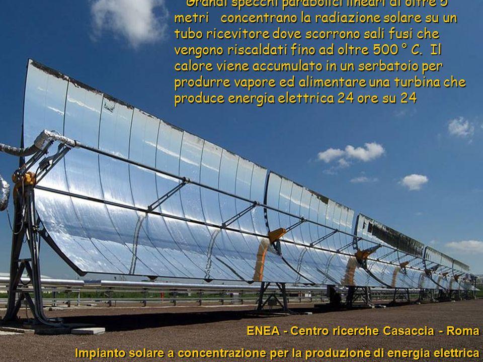75ENEA - educarsi al futuro ENEA - Centro ricerche Casaccia - Roma ENEA - Centro ricerche Casaccia - Roma Impianto solare a concentrazione per la prod