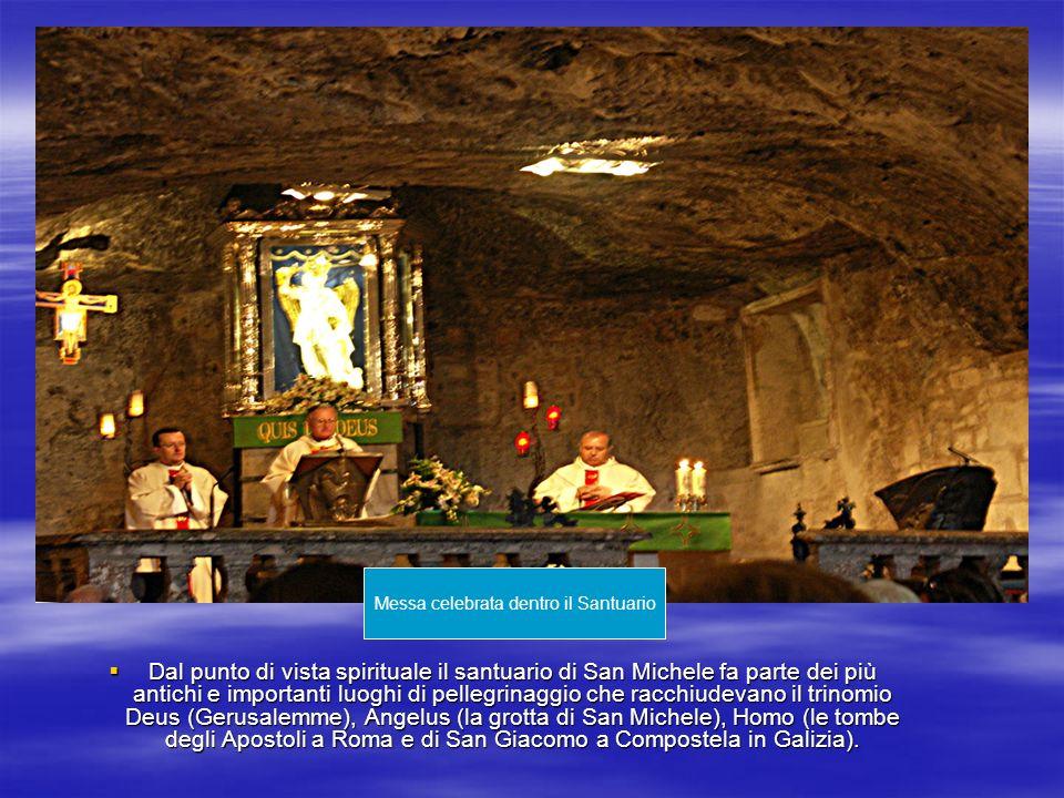 Dal punto di vista spirituale il santuario di San Michele fa parte dei più antichi e importanti luoghi di pellegrinaggio che racchiudevano il trinomio