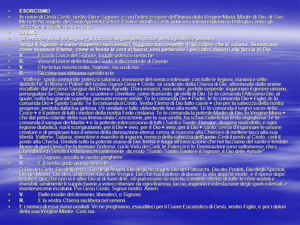 NEL SITO www.ilcattolicoonline.org\ NEL SITO www.ilcattolicoonline.org\www.ilcattolicoonline.org\ Vi sono altre apparizioni di San Michele e tante Novene e preghiere per invocare la sua potente protezione.