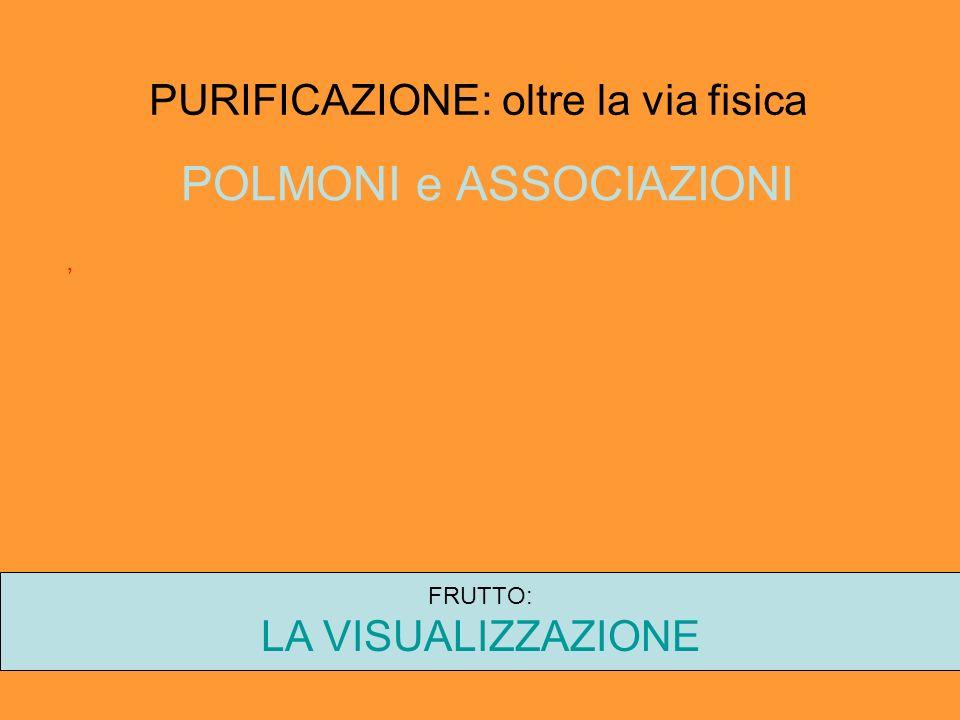 PURIFICAZIONE: oltre la via fisica POLMONI e ASSOCIAZIONI, FRUTTO: LA VISUALIZZAZIONE