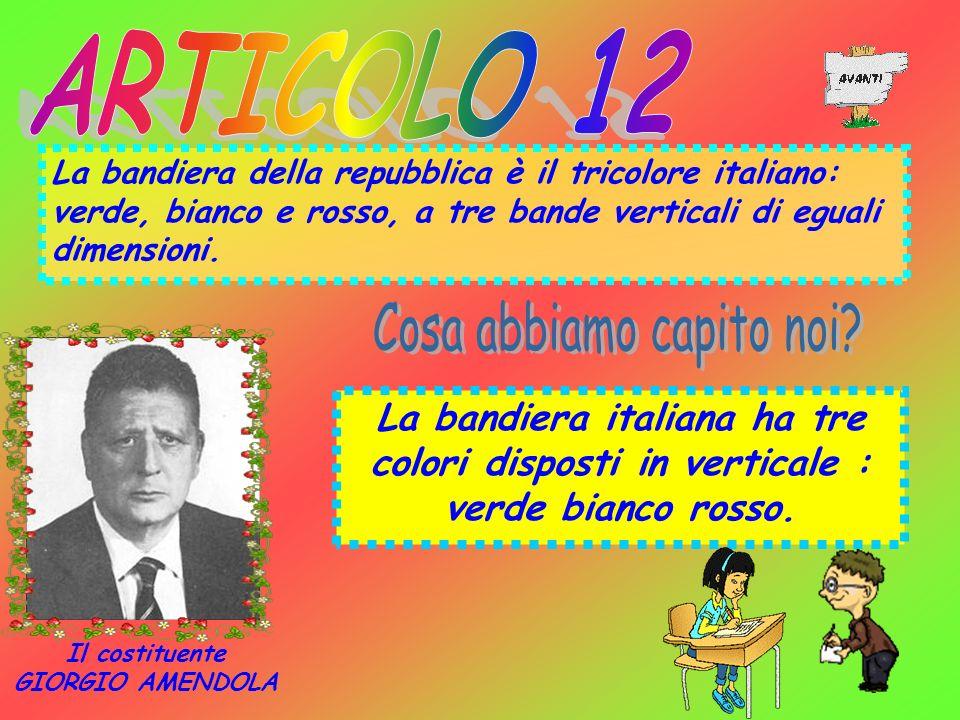 La bandiera della repubblica è il tricolore italiano: verde, bianco e rosso, a tre bande verticali di eguali dimensioni. La bandiera italiana ha tre c