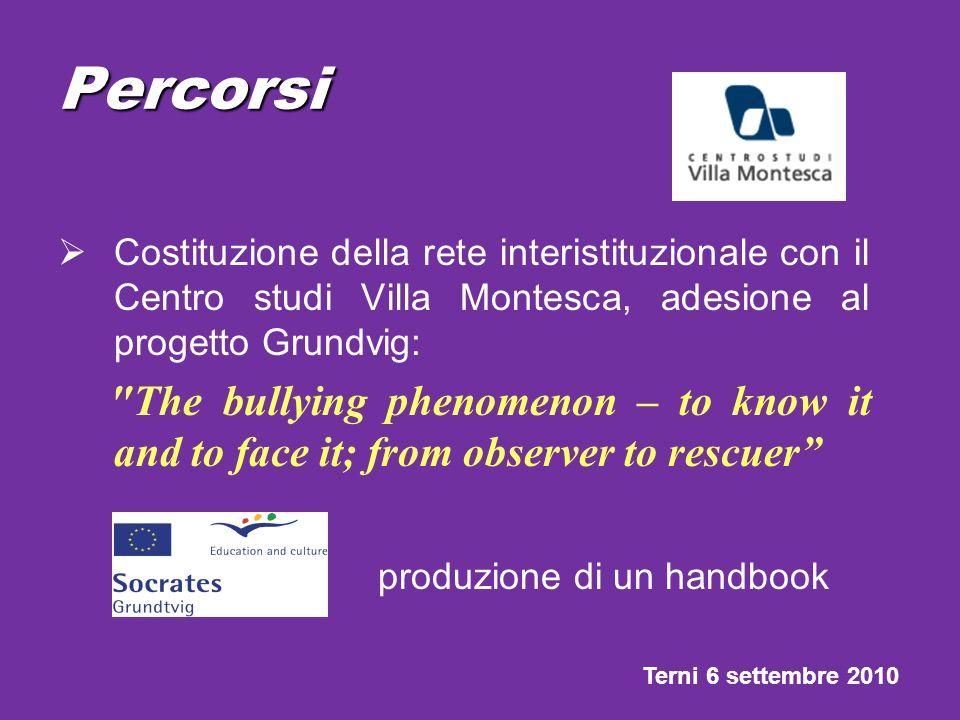 Percorsi Costituzione della rete interistituzionale con il Centro studi Villa Montesca, adesione al progetto Grundvig: