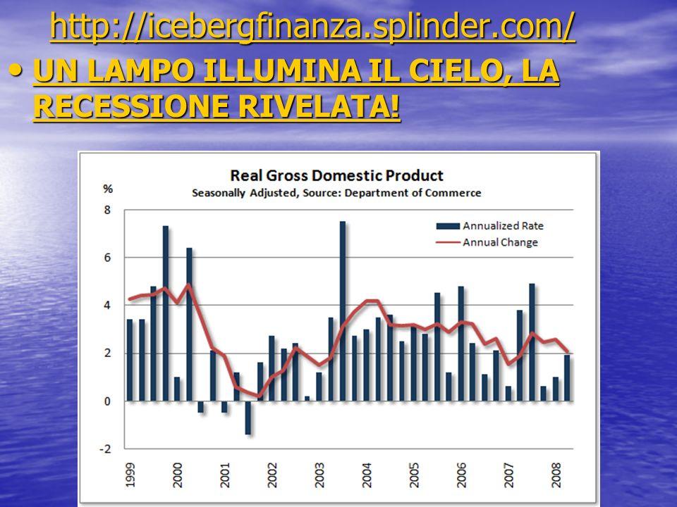 http://icebergfinanza.splinder.com/ http://icebergfinanza.splinder.com/http://icebergfinanza.splinder.com/ UN LAMPO ILLUMINA IL CIELO, LA RECESSIONE R