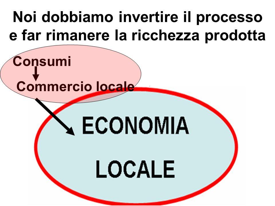 Noi dobbiamo invertire il processo e far rimanere la ricchezza prodotta Consumi Commercio locale