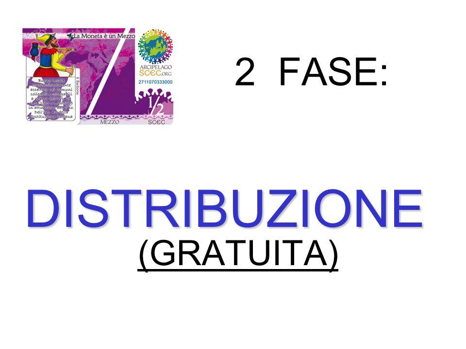 2 FASE: DISTRIBUZIONE (GRATUITA)