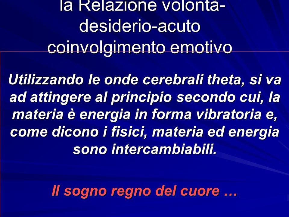 la Relazione volontà- desiderio-acuto coinvolgimento emotivo la Relazione volontà- desiderio-acuto coinvolgimento emotivo Utilizzando le onde cerebral
