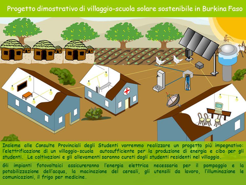 Villaggio scuola autosufficiente Insieme alle Consulte Provinciali degli Studenti vorremmo realizzare un progetto più impegnativo: lelettrificazione d
