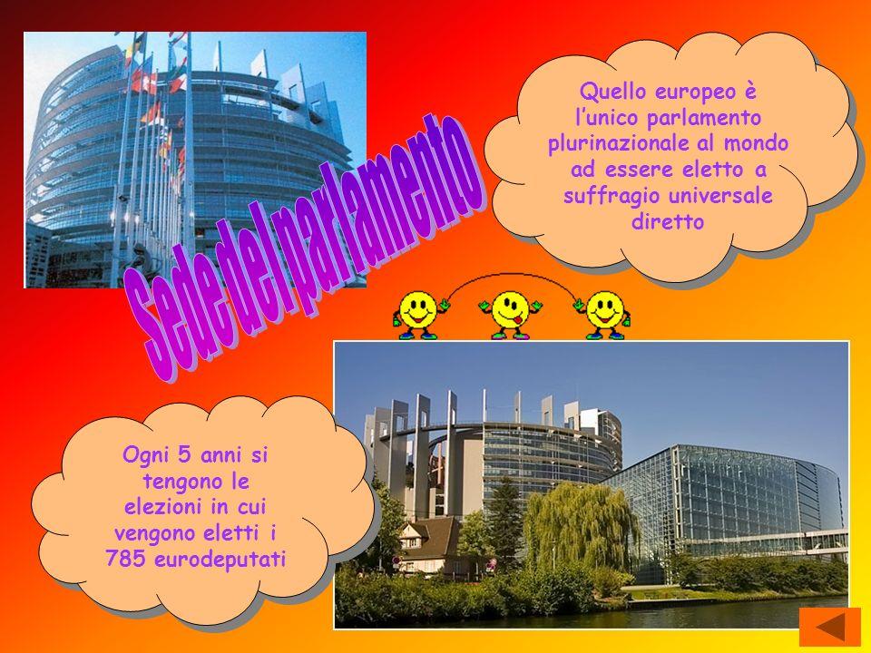Quello europeo è lunico parlamento plurinazionale al mondo ad essere eletto a suffragio universale diretto Ogni 5 anni si tengono le elezioni in cui v