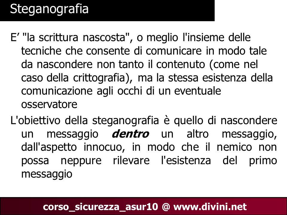 00 AN 6 corso_sicurezza_asur10 @ www.divini.net Steganografia E