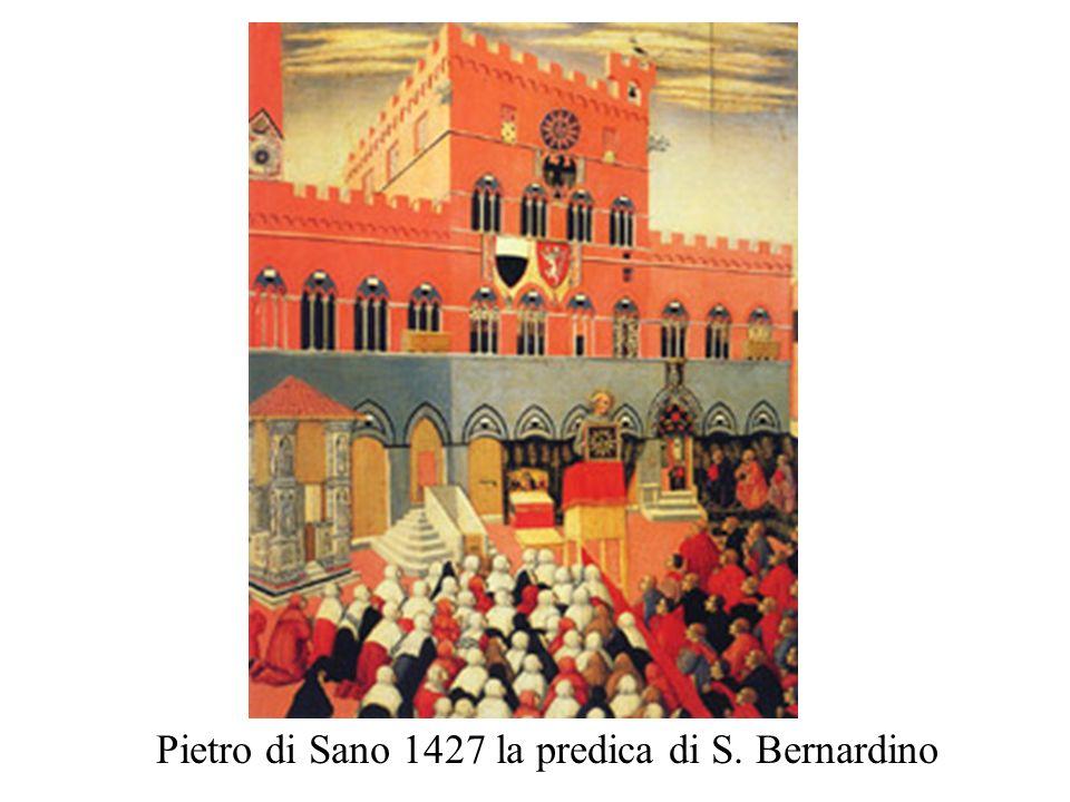 Pietro di Sano 1427 la predica di S. Bernardino
