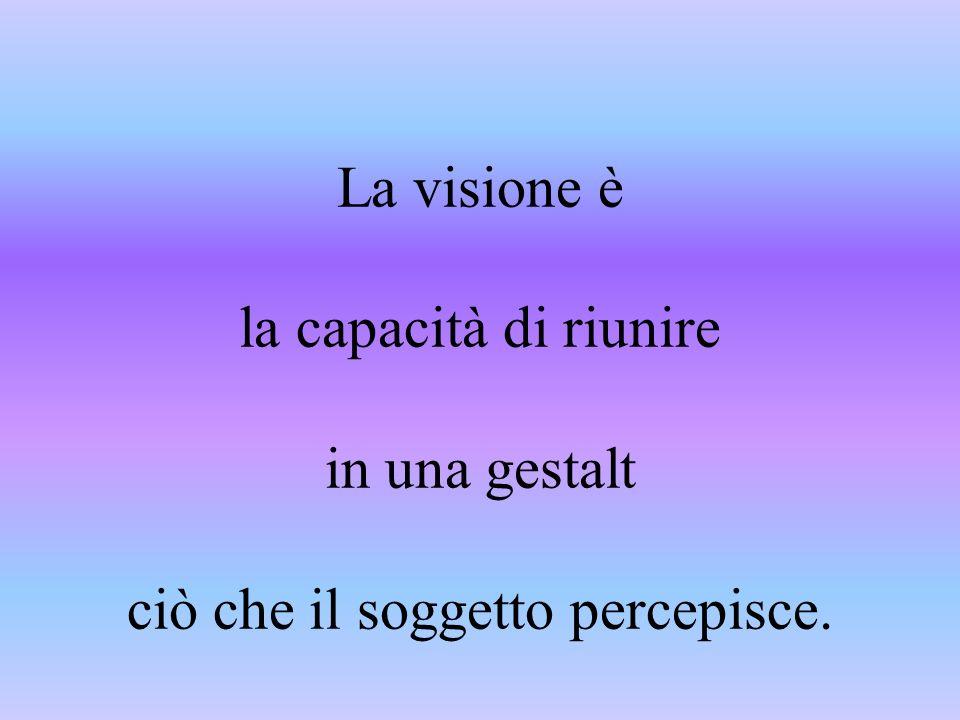 Vedere e ideare hanno la stessa origine nel verbo greco idein Le idee sono visioni che trascendono il visibile.