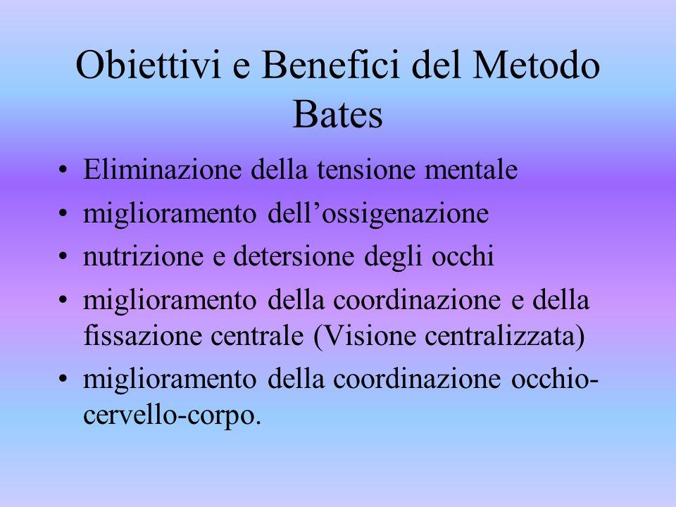 Il metodo Bates non è un semplice metodo di apprendimento di una serie di esercizi per il recupero graduale della acuità visiva ma ha messo le basi pe