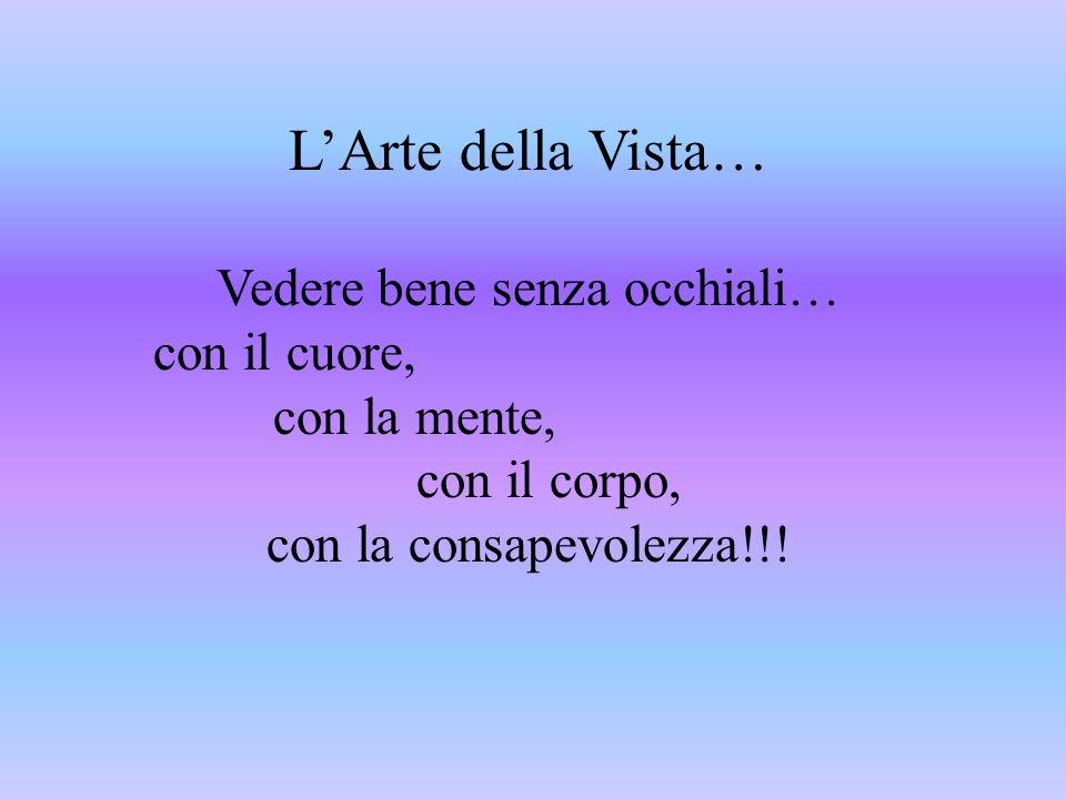 LArte della Vista… Vedere bene senza occhiali… con il cuore, con la mente, con il corpo, con la consapevolezza!!!