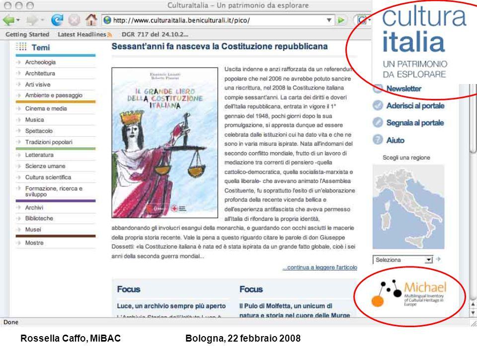 Rossella Caffo, MiBACBologna, 22 febbraio 2008