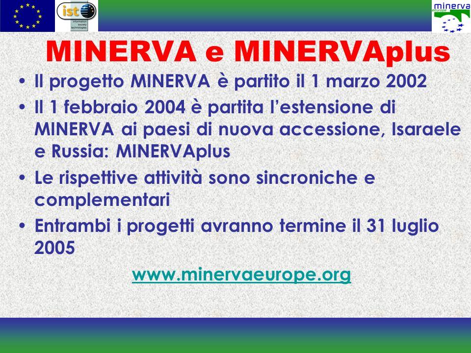 Networking La rete NRG/MINERVA è un punto di riferimento per gli Stati Membri in merito alla digitalizzazione del patrimonio culturale.