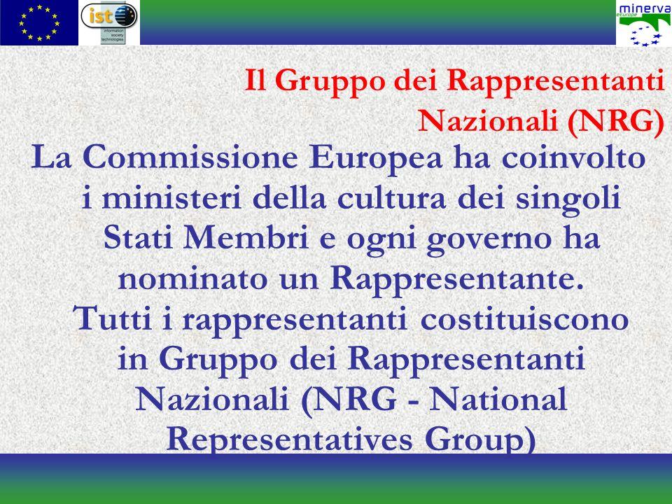 La Commissione Europea ha coinvolto i ministeri della cultura dei singoli Stati Membri e ogni governo ha nominato un Rappresentante.