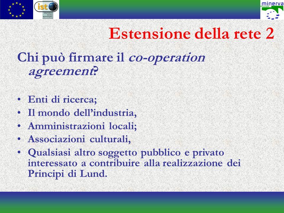 Estensione della rete 2 Chi può firmare il co-operation agreement.