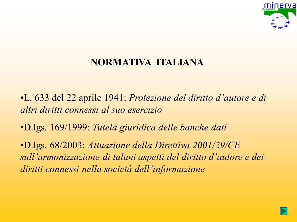 NORMATIVA ITALIANA L.