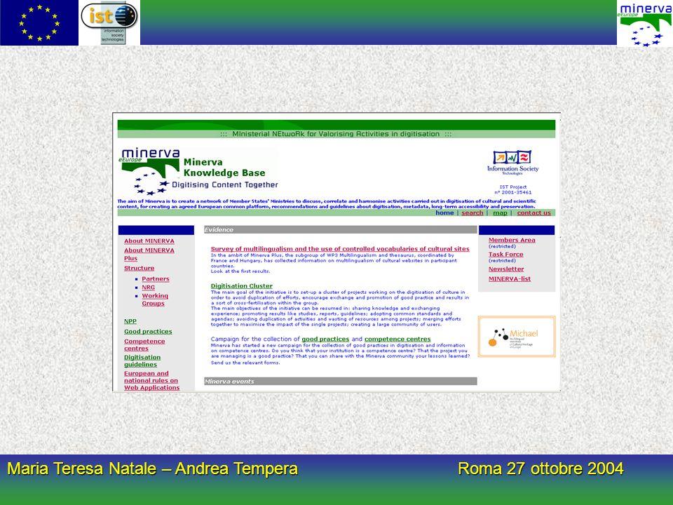 Maria Teresa Natale – Andrea Tempera Roma 27 ottobre 2004