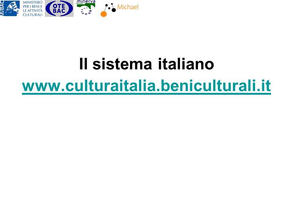 Il sistema italiano www.culturaitalia.beniculturali.it