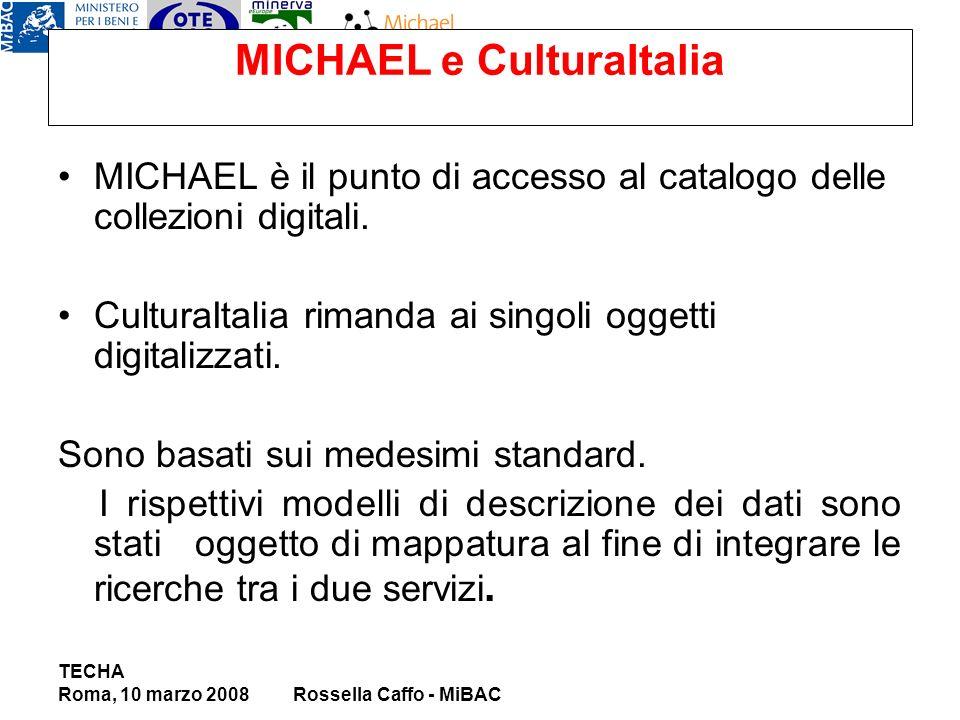 MICHAEL e CulturaItalia MICHAEL è il punto di accesso al catalogo delle collezioni digitali.