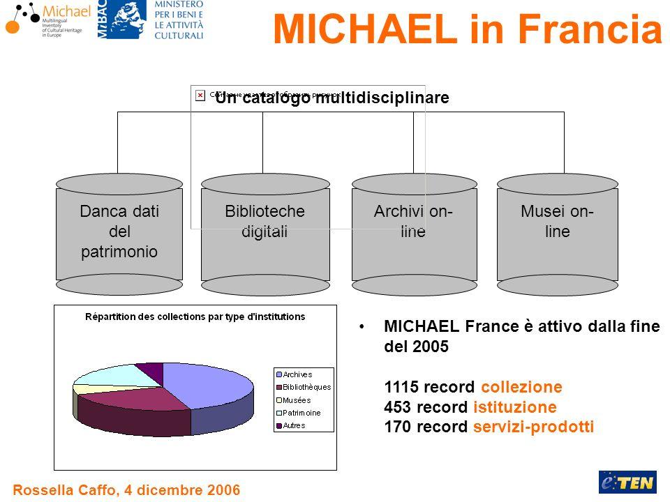 Rossella Caffo, 4 dicembre 2006 Danca dati del patrimonio Archivi on- line Biblioteche digitali Un catalogo multidisciplinare Musei on- line MICHAEL F