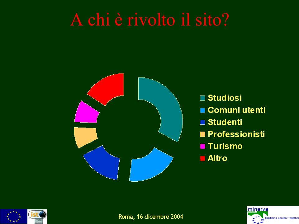 Roma, 16 dicembre 2004 A chi è rivolto il sito