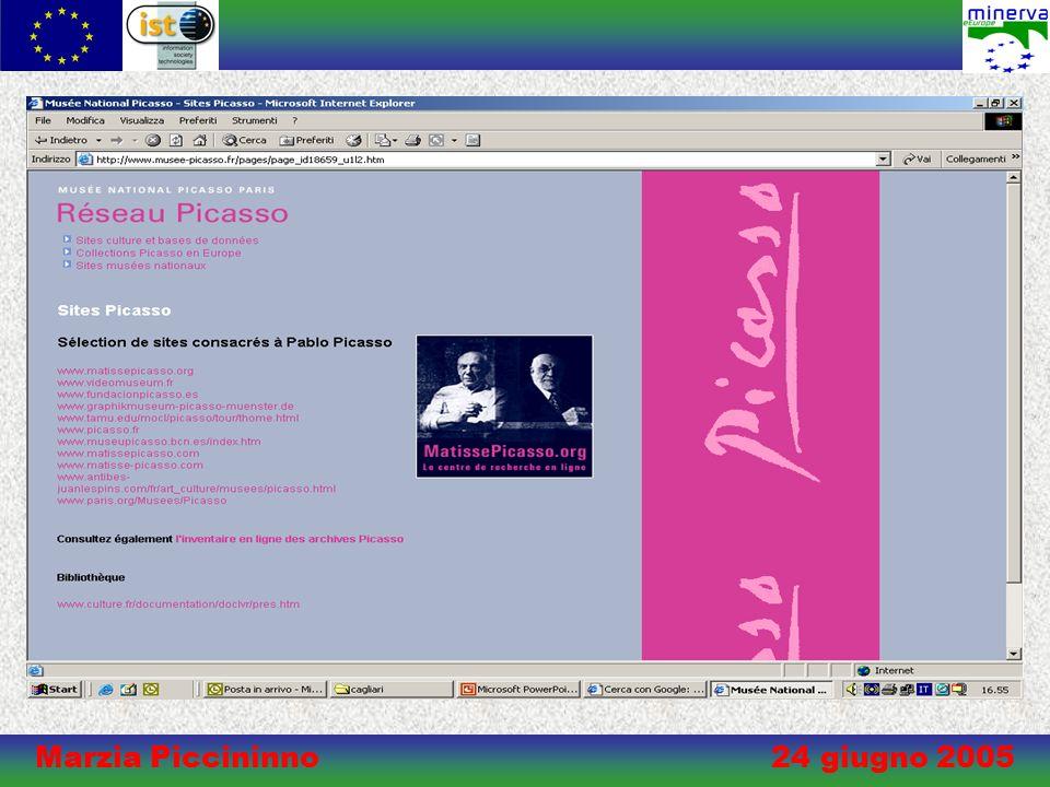 Marzia Piccininno 24 giugno 2005 Museo&Web Kit di progettazione di un sito di qualità per un museo medio-piccolo Museo&Web è stato realizzato nellambito delle attività del gruppo di lavoro italiano di MINERVA per la qualità del web culturale.
