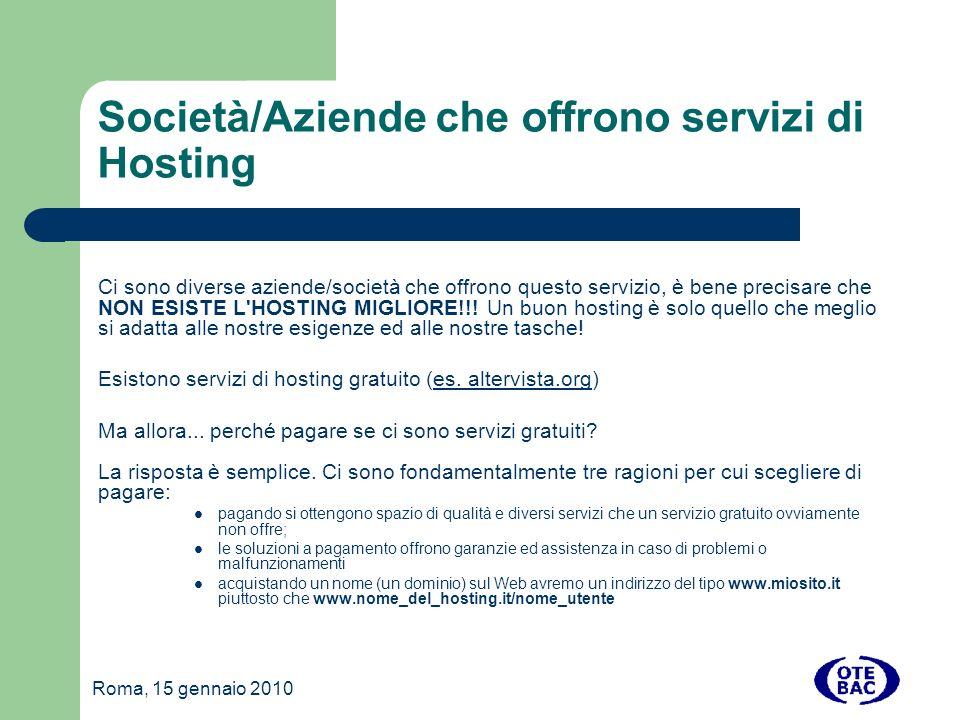 Roma, 15 gennaio 2010 Installazione 3- CARICAMENTO SUL SERVER Trasferire sul server l intero contenuto della cartella scompattata dall archivio di installazione tramite il nostro Client FTP.