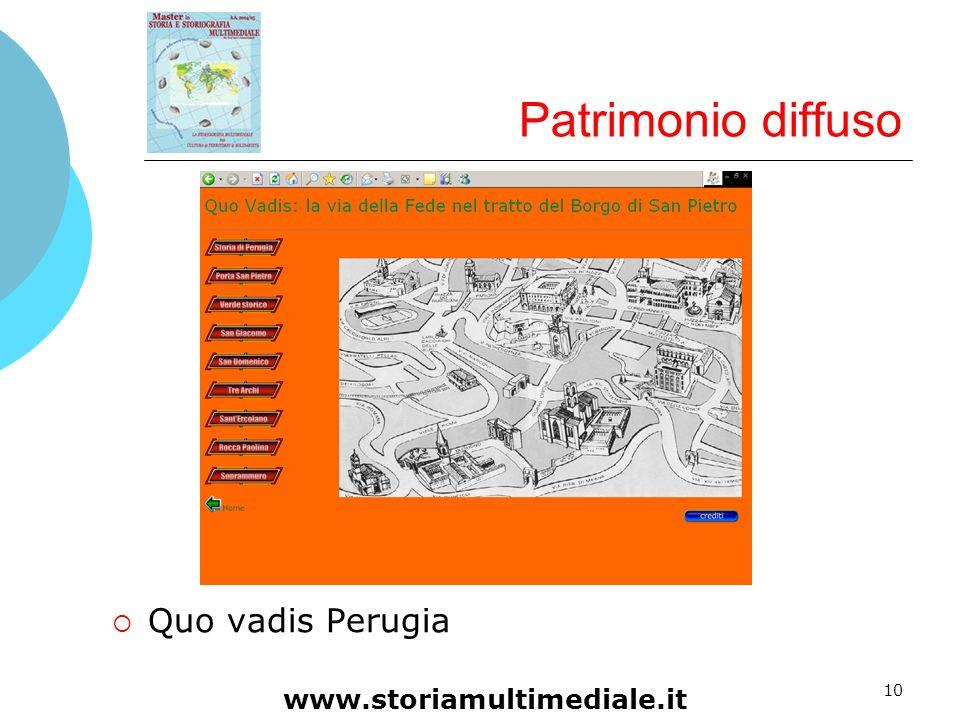 10 Patrimonio diffuso Quo vadis Perugia www.storiamultimediale.it