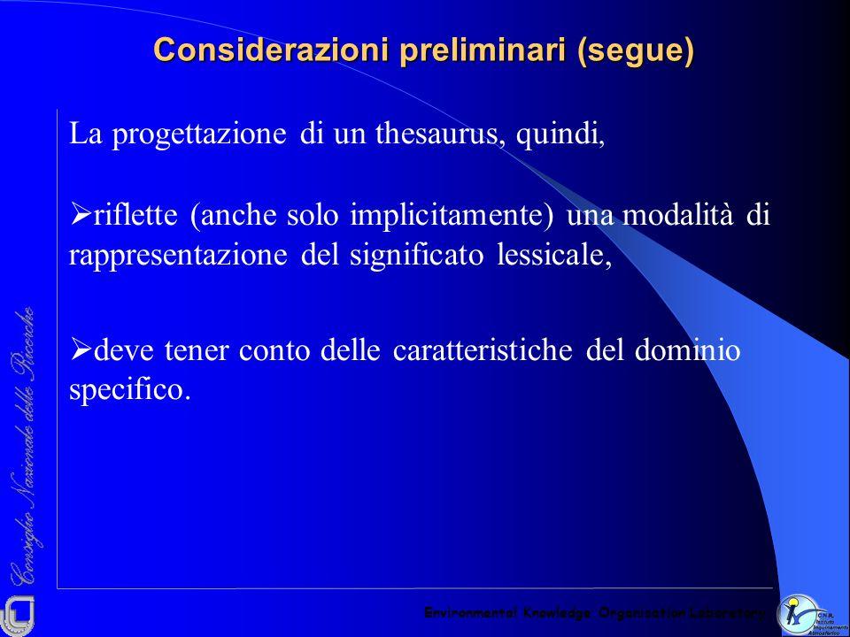 Un termine del dominio filosofia: categoria Environmental Knowledge Organisation Laboratory Categoria (Aristotele): determinazioni ultime della realtà.