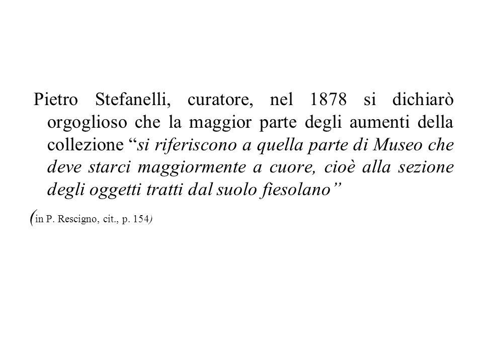 Pietro Stefanelli, curatore, nel 1878 si dichiarò orgoglioso che la maggior parte degli aumenti della collezione si riferiscono a quella parte di Muse