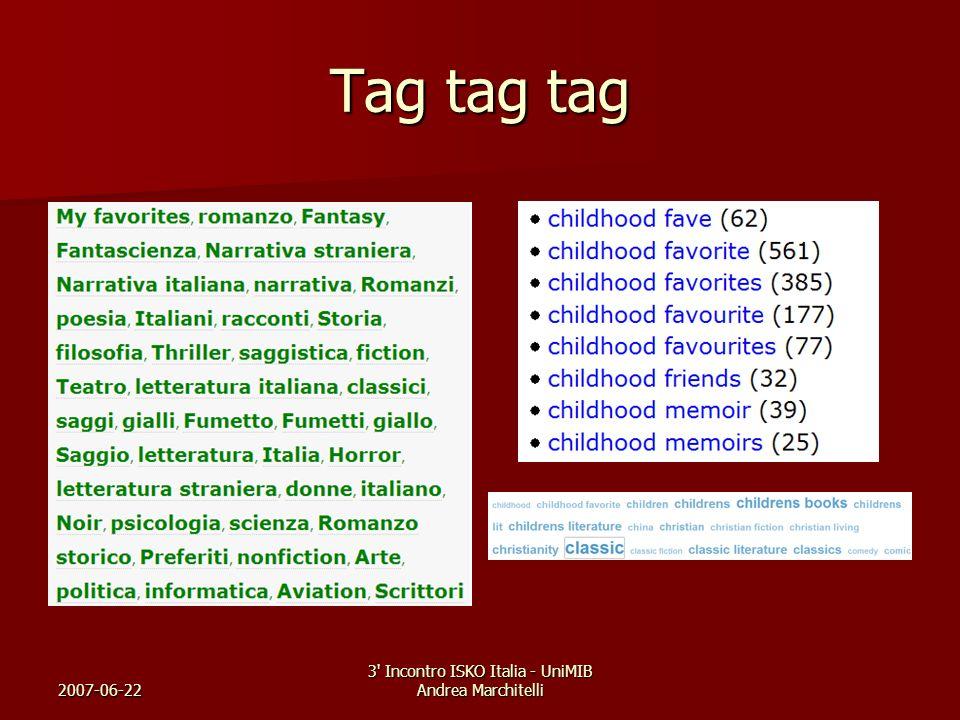 2007-06-22 3' Incontro ISKO Italia - UniMIB Andrea Marchitelli Tag tag tag