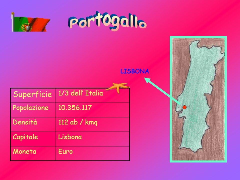 Superficie 1/3 dell Italia Popolazione10.356.117 Densità112 ab / kmq CapitaleLisbona MonetaEuro LISBONA
